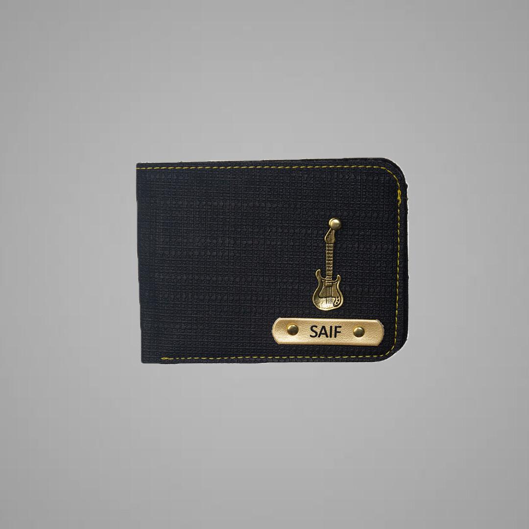 Black Denim Indian Leather Men's Wallet