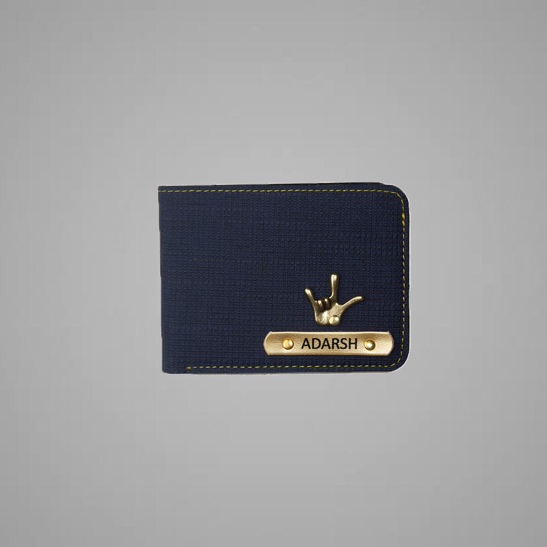 Blue Denim Indian Leather Men's Wallet