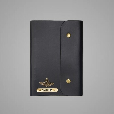 Black Customised Leather Diary (A5)