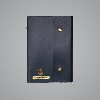 Blue Customised Leather Diary (A5)
