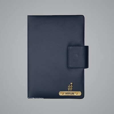 Blue Customised Leather Diary