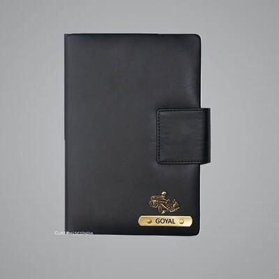 Black Customised Leather Diary
