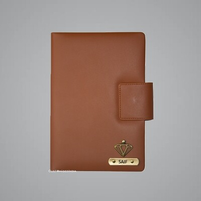 Tan Customised Leather Diary