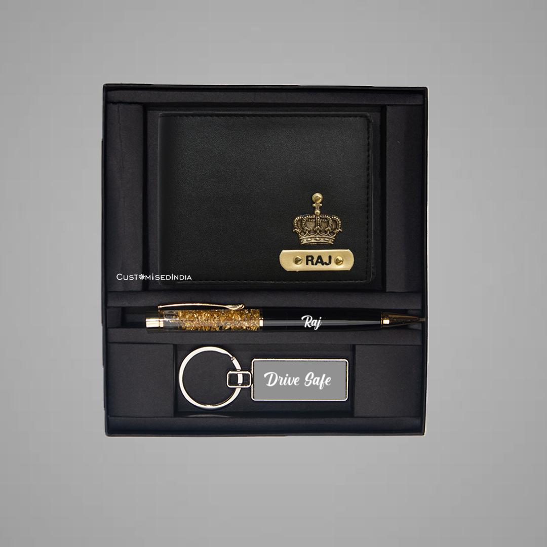 Black-Tan Dual Colour Wallet Combo