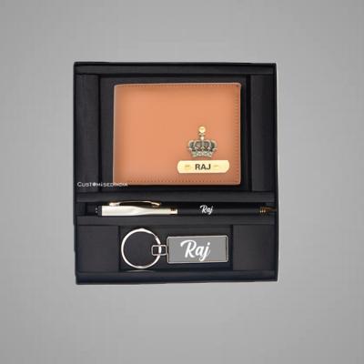 Tan-Mint Green Dual Colour Wallet Combo
