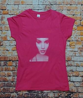 LBSN 'Newsprint' T-Shirt in pink