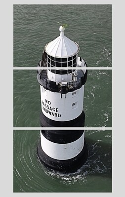 FRAME B2 :Trwyn Du Lighthouse, on the beautiful island of Anglesey, Wales.