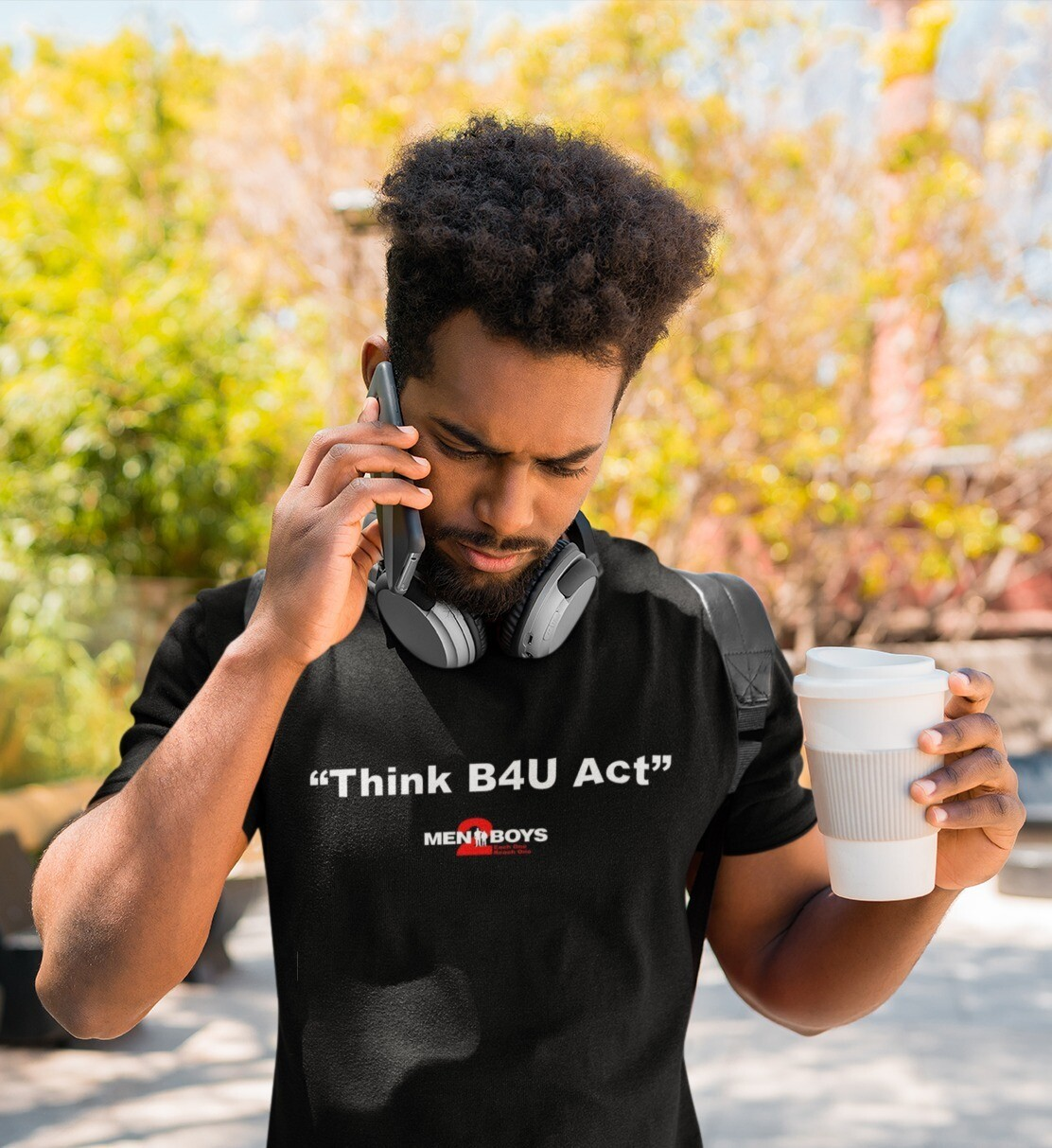 "M2Bs Message Line T-Shirt ""Think B4U Act"""