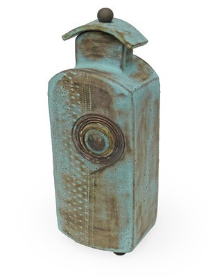 Architectural Influence - Ceramic Vessel with Found Objects