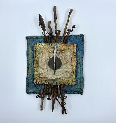 Ceramic Wall Piece with Found Objects