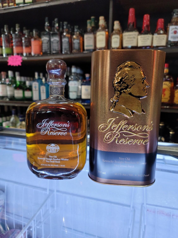 Jefferson's Reserve Very Old Bourbon 750ml