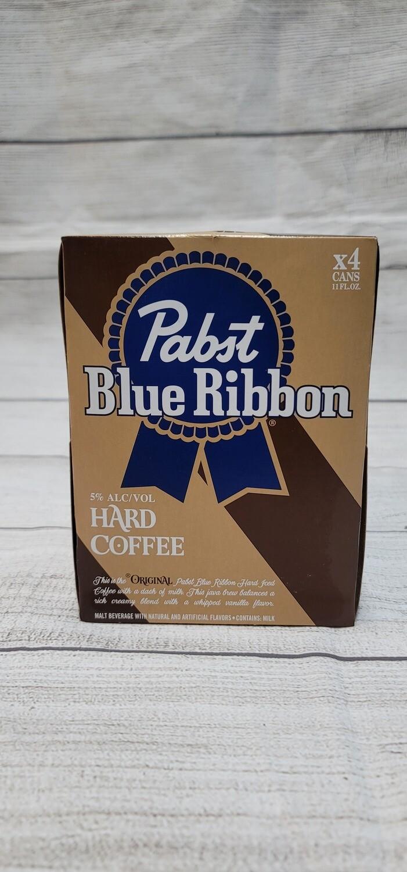 Pabst Blue Ribbon Hard Coffee 4pack  11oz