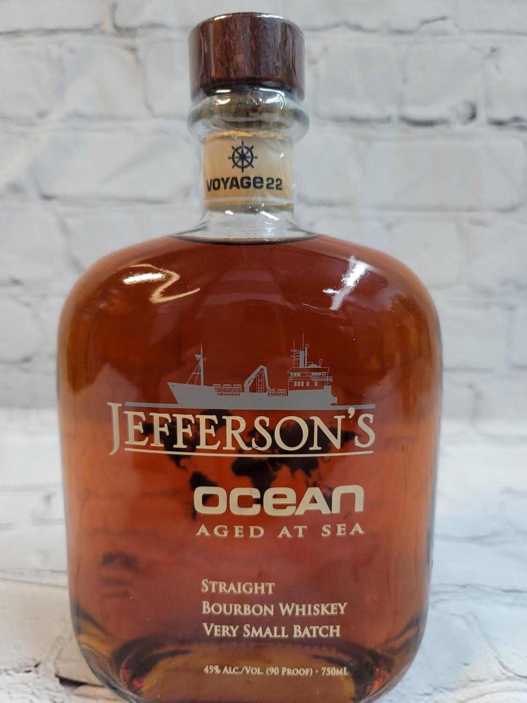 Jefferson's Ocean Aged at Sea Straight Bourbon Whiskey Voyage 22 750ml