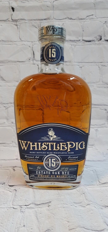 Whistle Pig 15year Estate Oak Rye Whisky 750ml