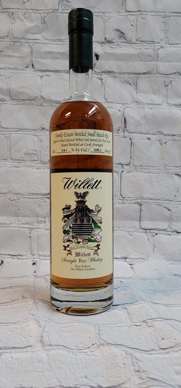 Willet Family Estate Bottled 4 Year Rye 750ml