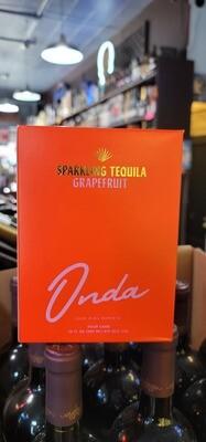 Onda Sparkling Tequila Grapefruit 12oz 4pack
