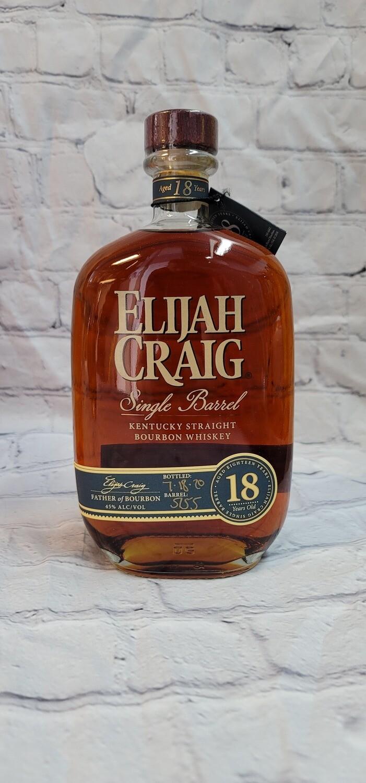 Elijah Craig 18 year Old Single Barrel bourbon 750ml