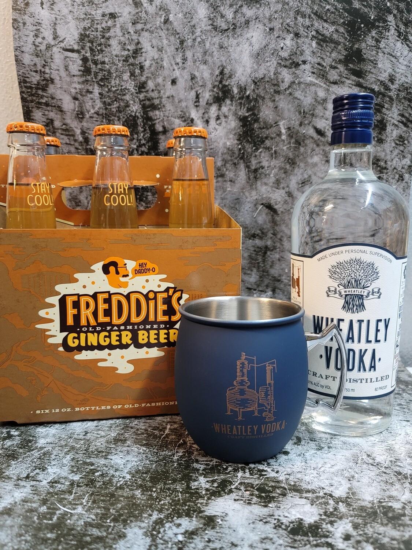 Wheatley Vodka/ Freddie's Ginger Beer/ Buffalo Trace Distillery Mug (Moscow Mule Pack)