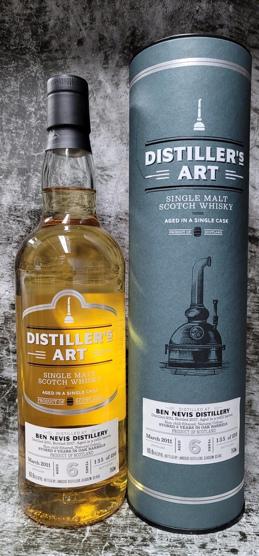 Distiller's Art Ben Nevis 6year Single Malt Scotch 750ml