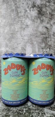 Zaddy's Gin Sonic 12oz 4pack