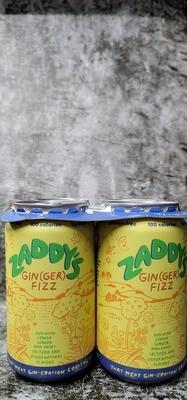 Zaddy's Gin(Ger) Fizz 12oz 4pack