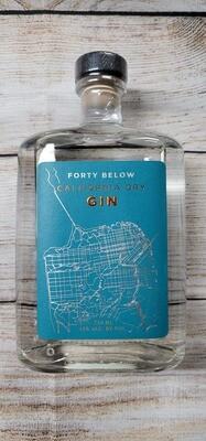 Forty Below California Dry Gin 750ml