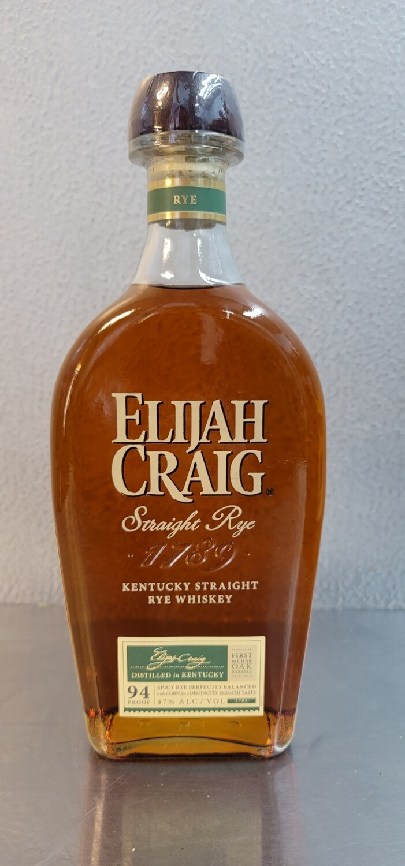 Elijah Craig Straight Rye 750ml