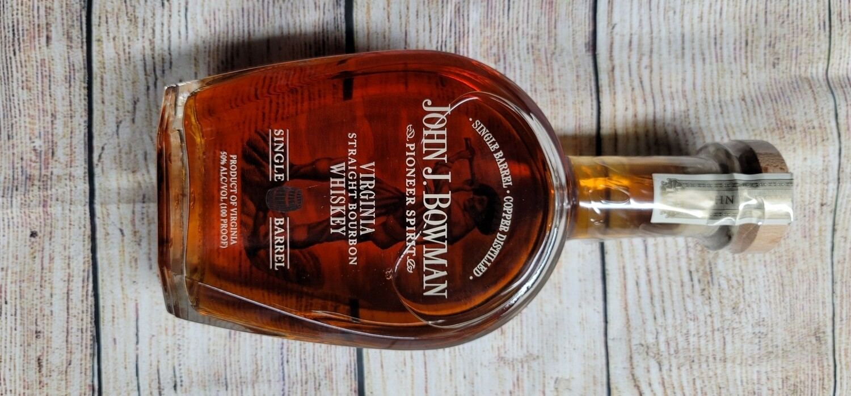 John J. Bowman Single Barrel Straight Bourbon Whiskey 750ml