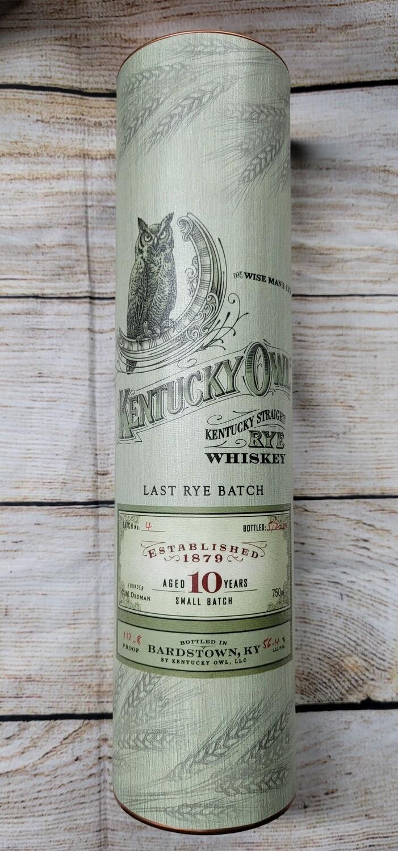 """Kentucky Owl """"Last Rye Batch"""" Rye Whiskey Batch No# 4 750ml"""