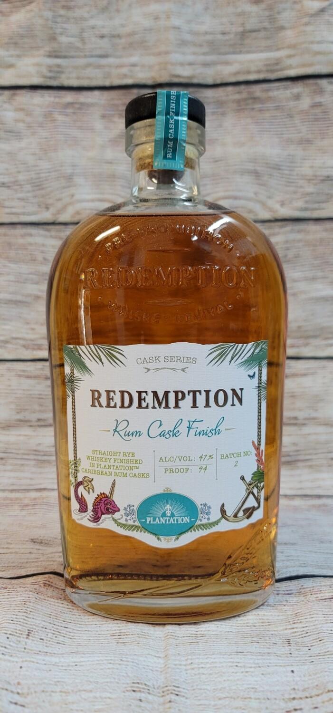 Redemption Rye Whiskey Rum Cask Finish 750ml