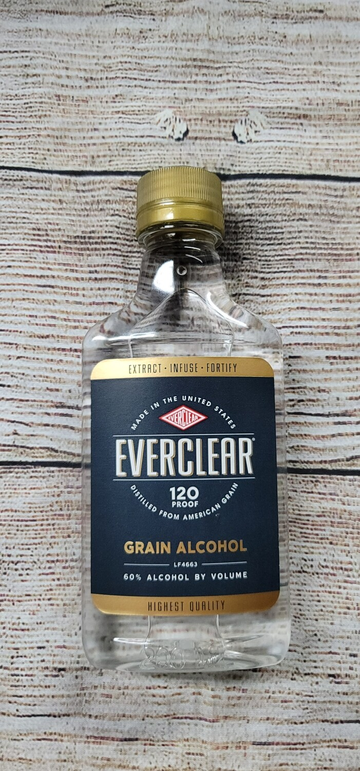 Everclear Alcohol 120proof 200ml