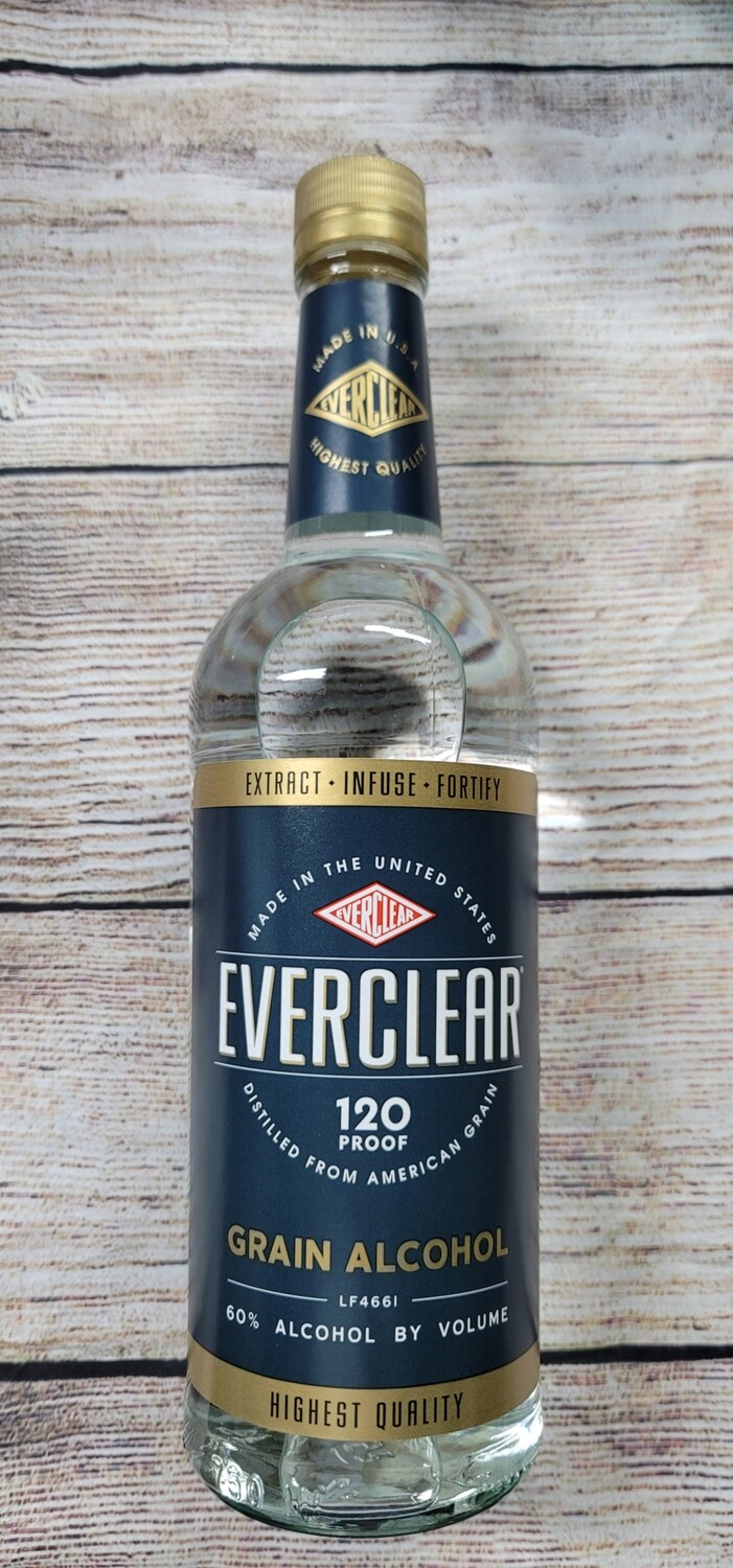 Everclear Alcohol 120proof 750ml