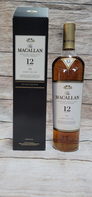 Macallan 12 year old Single Malt Whisky Sherry Cask 750ml