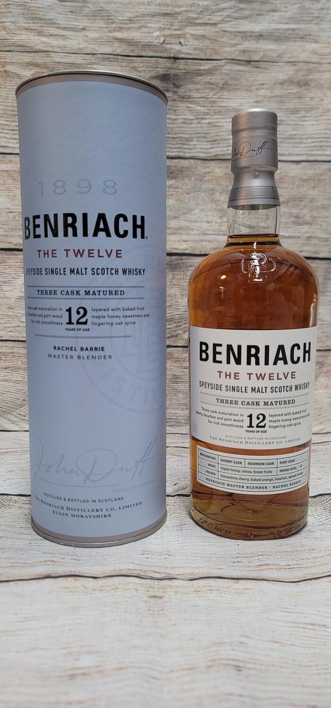 Benriach 12year Speyside Single Malt Scotch Whisky 750ml