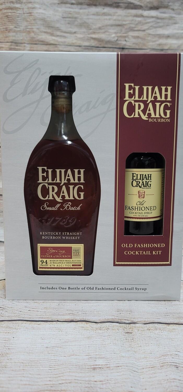 Elijah Craig Small Batch 750ml w/ Old Fashioned Syrup (8oz)
