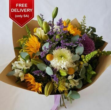 Mixed Flower Bunch with Sunflowers