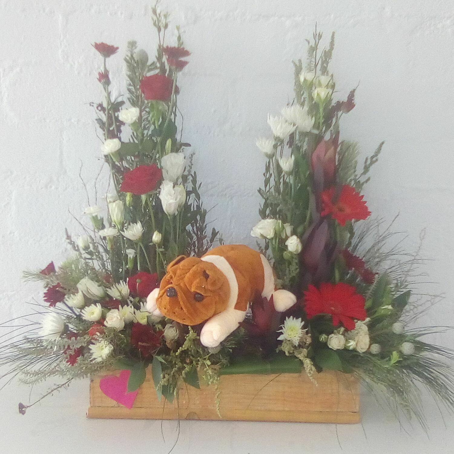 Wooden Crate with Soft Toy