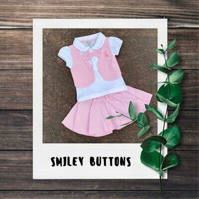 Pink Stripes Skirt & Top