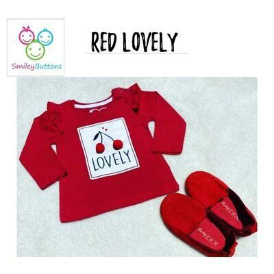 T-Shirt Red Lovely