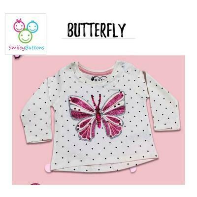 T Shirt Pink Butterfly