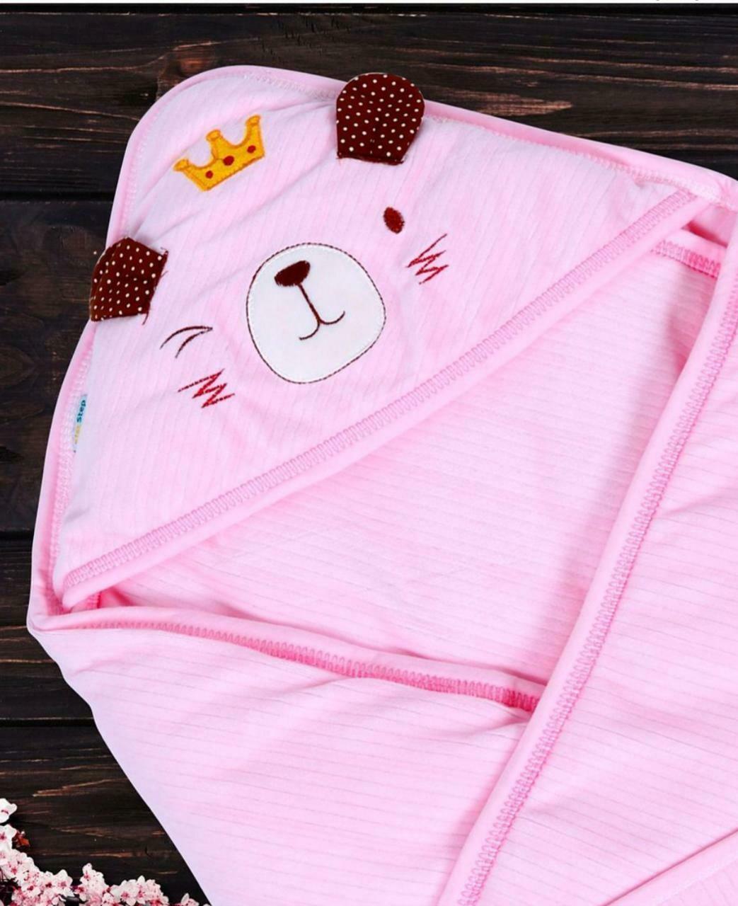 Hooded Receiving Blanket Pink