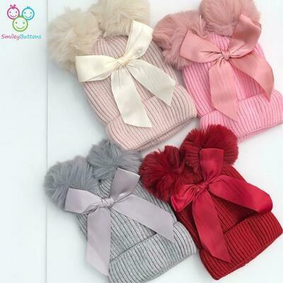Wool Cap Bow