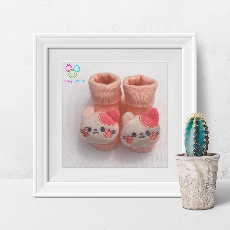 Baby Socks Pink Meow