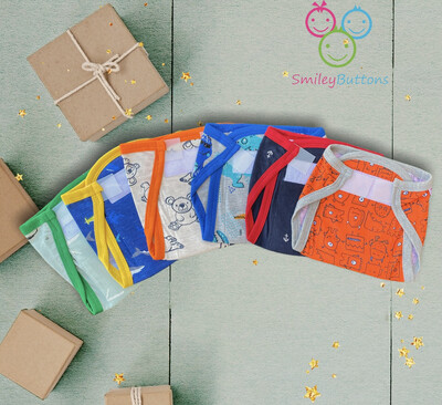 Padded Cloth Nappies Pack of 6