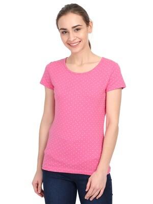 TShirt Pink Dot AOP