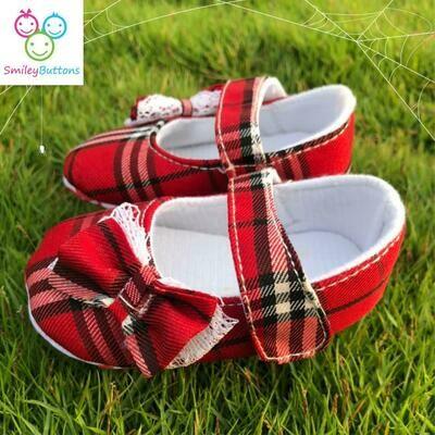 Shoe Red Plaid
