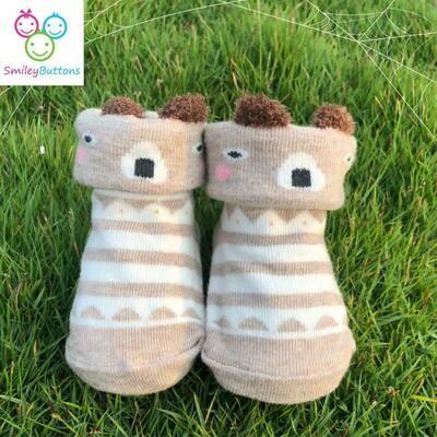 Baby Socks Brown Bear