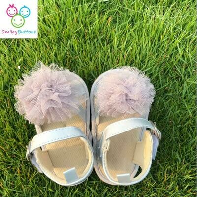 Shoe Grey Bow