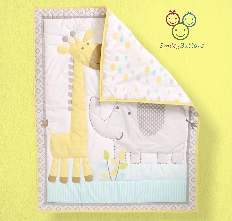 Baby Quilt Reversible Giraffe