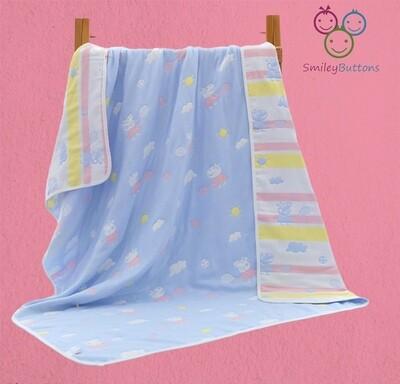 6 Layer Reversible Blanket Blue Shine